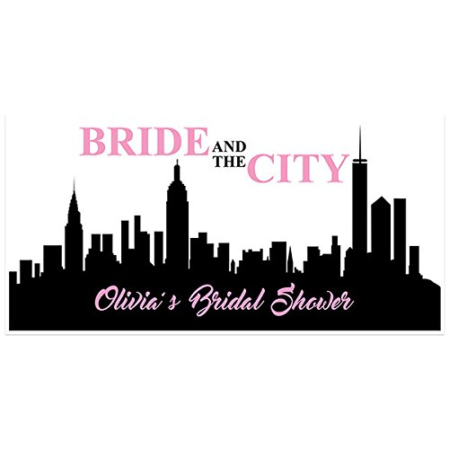 bride and the city bridal shower banner personalized party backdrop
