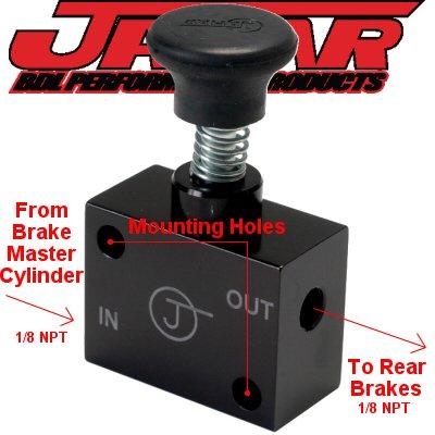 Park Brake Assembly - Jamar Hydraulic Brake Park Lock For VW Bug Volkswagen Made In USA