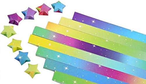 1080 枚のカラフルな折り紙の星紙DIYのラッキースター紙片 #20