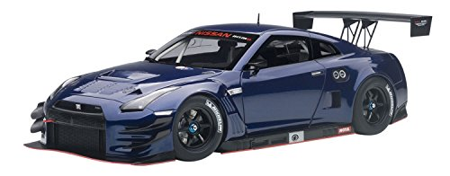 - AUTOart 1/18 Nissan GT-R NISMO GT3 Aurora Flare Blue Pearl Finished Product