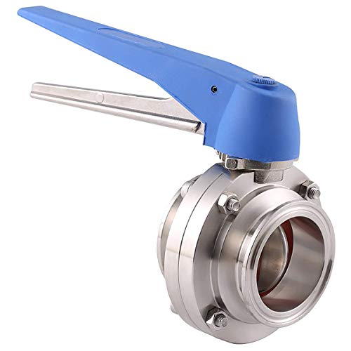 (TOOGOO 1-1/2 inch 38mm SS304 Stainless Steel Sanitary 1.5 inch Tri Clamp Butterfly Valve Squeeze Trigger for Homebrew Dairy Product)