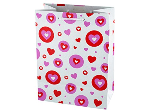 bulk buys BH433 Medium Craft Hearts Gift Bag