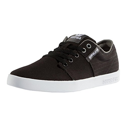 Supra Mens Stacks Ii Skate Schoen Zwart Stitch-white