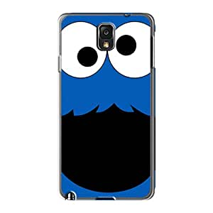 Shock-Absorbing Cell-phone Hard Covers For Samsung Galaxy Note 3 With Allow Personal Design Attractive Cookie Monster Skin TraciCheung