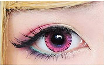 bfbcd18f9fb Image Unavailable. Image not available for. Colour  Optify Pink Monthly  Color Contact Lens (Zero Power ...