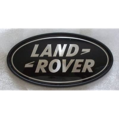 Genuine Land Rover DAH500330 Rear Body Oval Badge (Black and Silver) for Range Rover Supercharged and Evoque 5-Door: Automotive