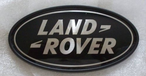 (Genuine Land Rover DAH500330 Rear Body Oval Badge (Black and Silver) for Range Rover Supercharged and Evoque 5-Door)