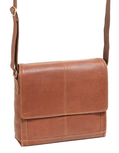 Sac de travail Leas By Cb, cuir véritable, Cognac - '' leas Classic Bags ''