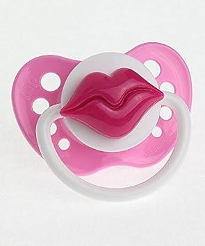 Cristal sueño elegante beso labios chupete rosa Pink ...
