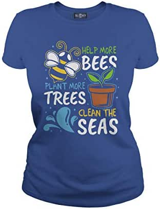 Help More Bees Plant More Trees Clean The Seas T-Shirt