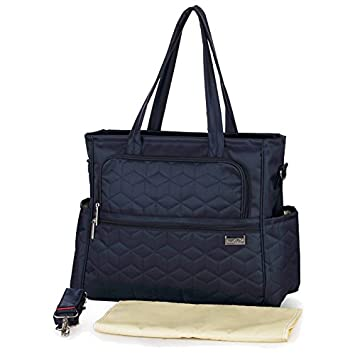 f8151facde Amazon.com : insular Baby Stroller Diaper Bag Waterproof Brand Handbags for  Moms Nappy Bags with Accessories Navy Blue : Baby
