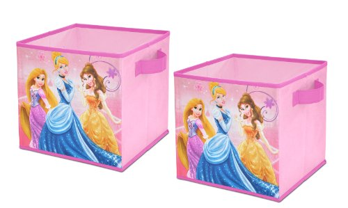 (Disney  Princess Storage Cubes, Set of 2, 10-Inch)