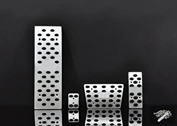 Wotefusi Coche Nueva aleación de Aluminio Acelerador Freno de Embrague Almohadilla Gasolina Gas Foot Rest Pedal Set para Audi A4 A6 A8 Q5 en: Amazon.es: ...