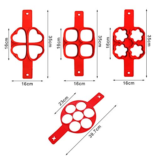 Amazon.com: Egg Shapers For Frying - Moldes Para Pancakes - Silicone Pancake Maker Egg Tools Frying Eggs Mold Gadgets Pan Cooking Round Star Heart Kitchen ...