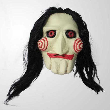 Mask KINGEVA Party Halloween Costume Latex Horror Clown Saw Super Lifelike Horrifying The Puppet from Movie Jigsaw Full Head Latex Masquerade Prop Christmas. for $<!--$25.99-->