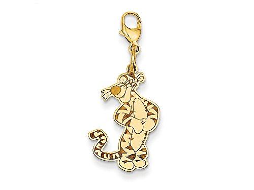 14kt Bracelet Slide Charm (Disney Tigger Lobster Clasp Charm 14kt)