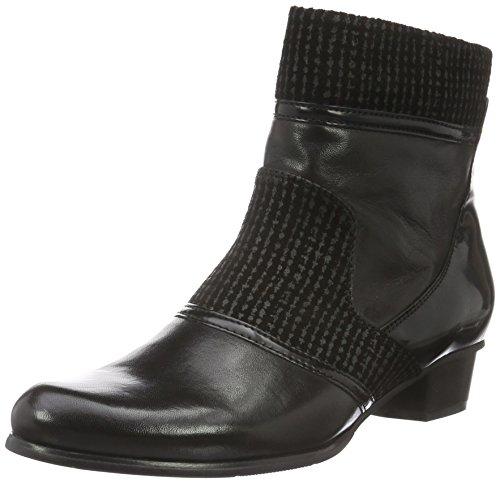 PIAZZA 9615, Stivali a metà Polpaccio con Imbottitura Leggera Donna Nero (Nero (Nero))