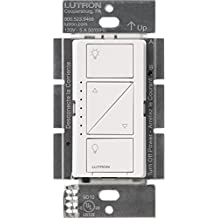 Lutron Caseta Wireless Smart Lighting Dimmer Switch for Wall & Ceiling Lights, PD-6WCL-WH-C, White, Works with Alexa