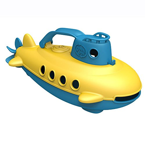Green Toys Submarine - BPA, Phthalate Free Blue Watercraft with Spinning Rear Propeller Made from Recycled Materials. Safe Toys for Toddlers
