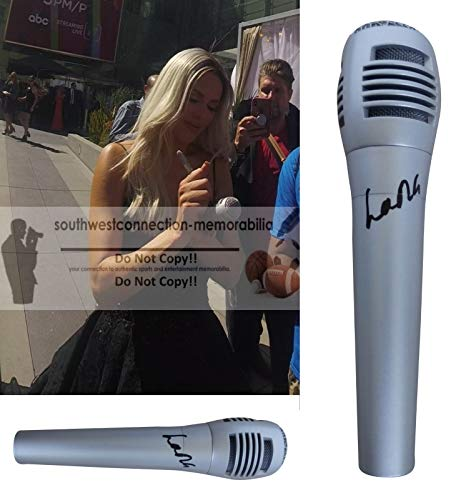 WWE Diva Lana Autographed Hand Signed Microphone with Exact Proof Photo of Lana Signing the Mic and Coa, WWF, WCW, Professional Wresting Manager, World Wrestling Entertainment from Southwestconnection-Memorabilia