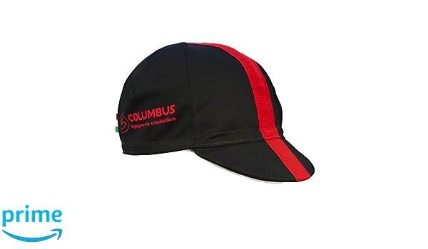 Columbus - Gorra Unisex, Color Negro y Rojo, Talla única: Amazon.es: Deportes y aire libre
