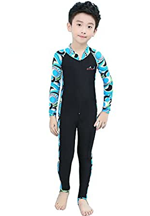 Lisianthus Child Sun Protection Full Body One-piece Wetsuit Blue S