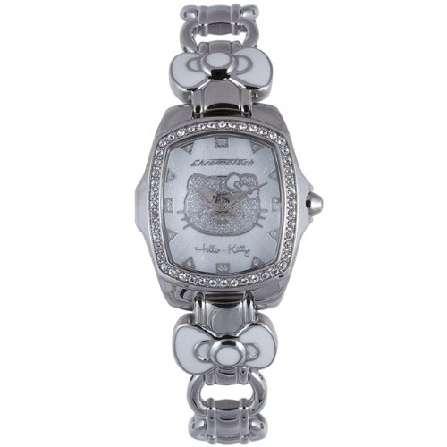 Hello Kitty Silver/White Stainless Steel Watch