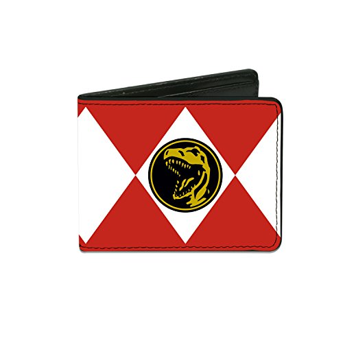 Power Rangers - Diamond Red Ranger Tyrannosaurs Power Logo - Bi-Fold Wallet (Mighty Morphin Power Rangers Logo)