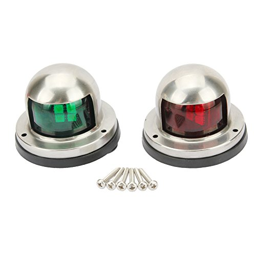 Senzeal One Pair LED Bow Navigation Lights Boat Yacht Light DC 12V Sailing Signal Lights for Boat (Red and Green) by Senzeal