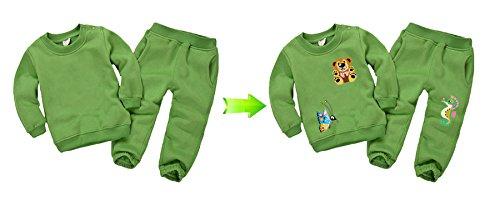 Pegatinas transfer parche termoadhesivo animalitos coloridos para vestidos, camisetas, pijamas, sudaderas, cazadoras, mochilas, canastillas.22 x 22 cm. de ...