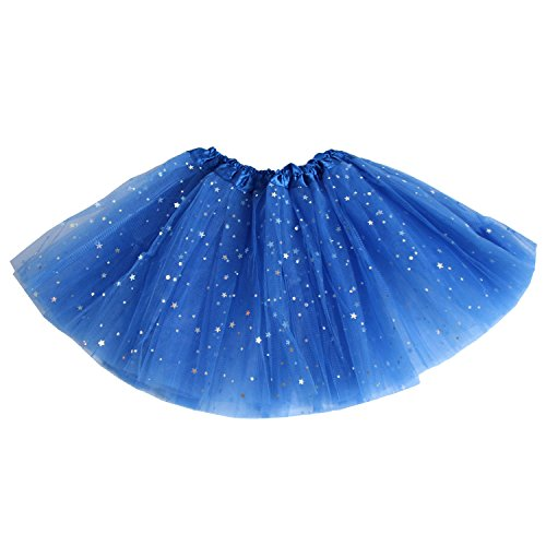 Gofriend Skirt 12  Girls Fluffy Tutu Dress   Princess Ballet Dance Stars Sequins Party Tutus  Dark Blue