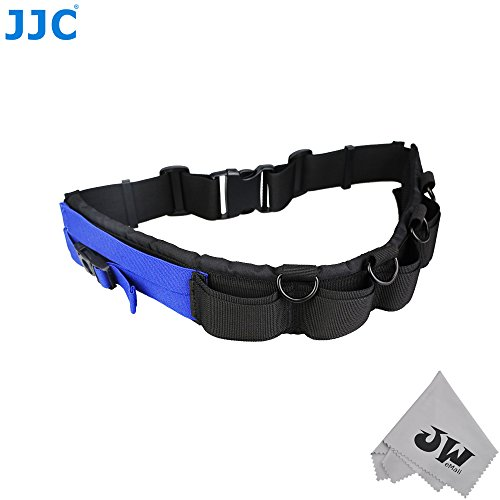 JW Multi-function Lightweight Durable Deluxe Technical Photography Belt Fits JJC DLP Lens Pouch for Photographers+JW Cleaning (Gb1 Lens)