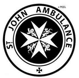 st-john-ambulance-circle-black-window-bumper-locker-sticker