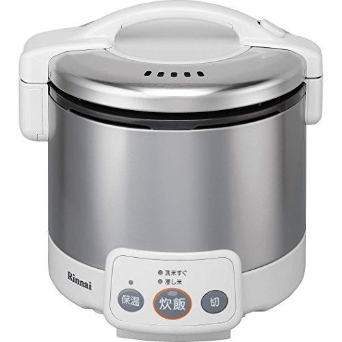 White Cooker Gas (Rinnai Kogamaru jar with gas cooker 3 Go cook White propane gas LPG for RR-030VM (W) LP)