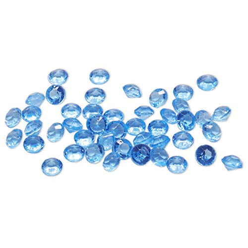 (4.2mm 10000pcs Acrylic Crystal Diamond for Vase Fillers, Party Table Scatter, Wedding, Photography, Party Decoration, Crafts DIY Project - Light Blue)