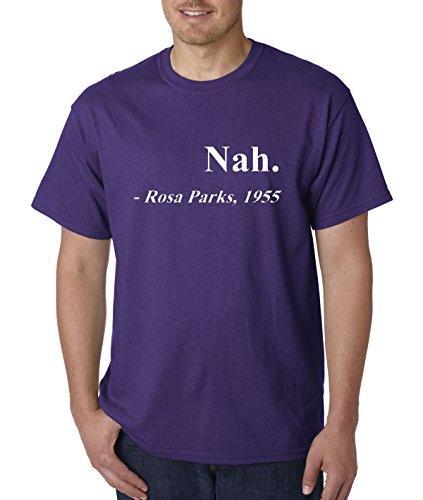 allwitty 1091 - Unisex T-Shirt Nah. Rosa Parks 1955 4XL Purple