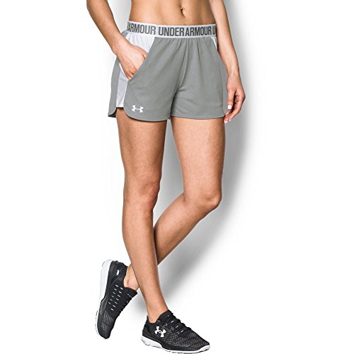 Under Armour Women's Play Up Shorts 2.0, True Gray Heather (025)/White, ()