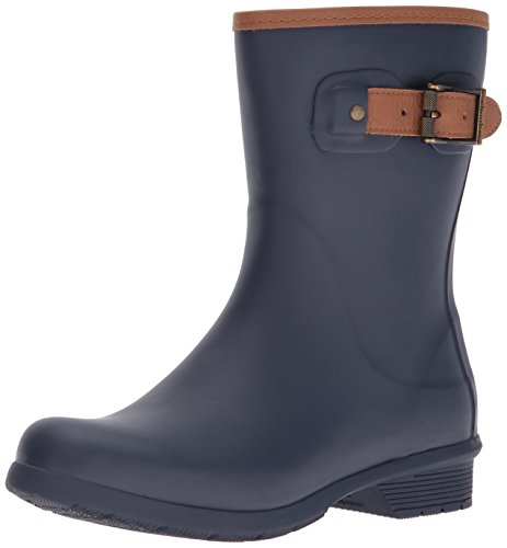 Chooka Women's Mid-Height Memory Foam Rain Boot, Navy, 9 M US