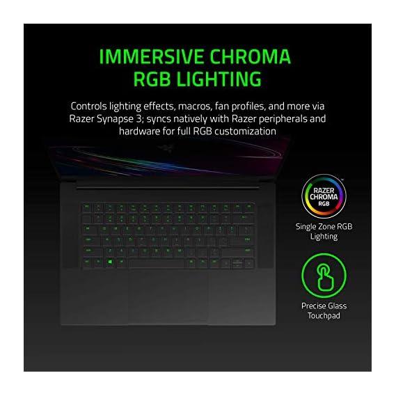 "Razer Blade 15 Gaming Laptop 2020: Intel Core i7-10750H 6-Core, NVIDIA GeForce RTX 2060, 15.6"" FHD 1080p 144Hz, 16GB RAM, 512GB SSD, CNC Aluminum, Chroma RGB Lighting, Thunderbolt 3, Black"
