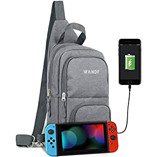 Victoriatourist Switch Travel Bag, for Nintendo Switch Console, Dock, Joy-Con Grip & Switch Accessories, Protective Storage Sling Backpack Shoulder Bag for Nintendo Switch and iPad