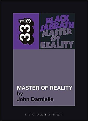 Black Sabbath's Master of Reality (33 1/3)