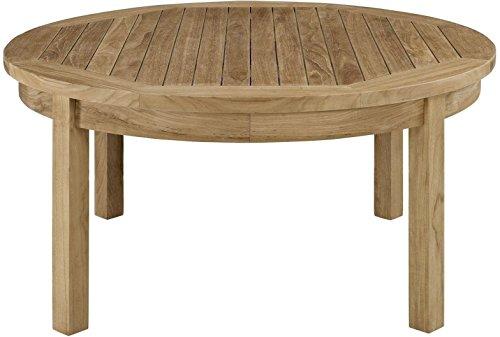 (Pier Outdoor Patio Teak Round Coffee Table Teak Wood Breakfast Dinner Display)