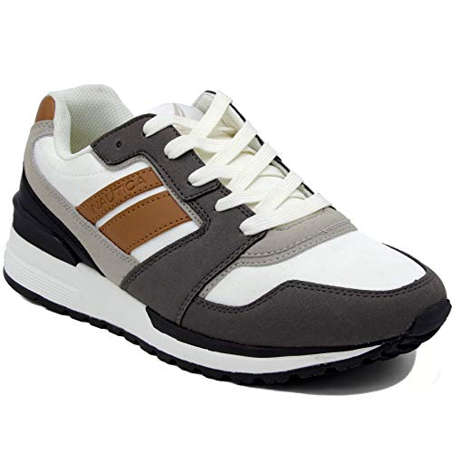 Nautica Men's Casual Lace-Up Fashion Sneakers Oxford Comfortable Walking ()