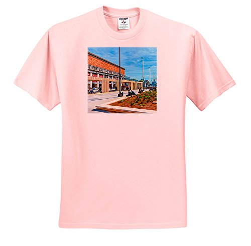Price comparison product image Alexis Photo-Art - Moscow City 2 - Artistic Moscow - Row Of Swings by The Tchaikovsky Concert Hall - T-Shirts - Youth Light-Pink-T-Shirt Small(6-8) (TS_272396_44)