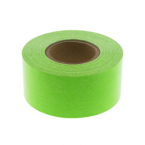 "1"" Fluorescent Green Color-Code, Clean-Remove Labeling Tape, Write On Surface 
