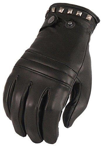 - Milwaukee Leather Women's Lthr Thermal Lined Glove w/Studding Detail-Black-Medium