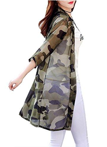 (シント?エム) ShintoM シースルー 七分袖 レディース カーディガン ゆったり 透け感 ロング ジャケット
