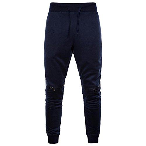 Pour Survêtement Zip Taille Confortables Latéral Haute De Décontractés Pieds Pantalons Paolian Hommes Marine f6x0On