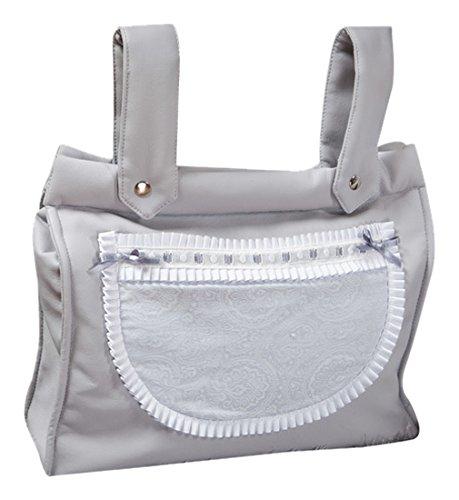 Babyline Bombón - Bolso panera para silla, color gris Gris