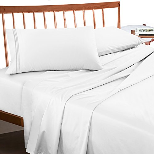 Premium King Sheets Set   White Hotel Luxury 4 Piece Bed Set, Extra Deep  Pocket Special Super Fit Fitted Sheet, Best Quality Hypoallergenic  Microfiber Linen ...